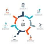 Frecce di vettore infographic Immagini Stock