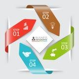 Frecce di vettore per infographic Fotografia Stock