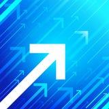 Frecce di vettore su fondo blu Fotografia Stock Libera da Diritti