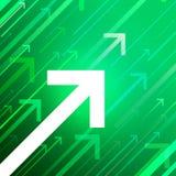 Frecce di vettore su fondo verde Fotografia Stock Libera da Diritti