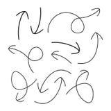 Frecce disegnate a mano - vettore illustrazione di stock