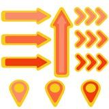 Frecce e puntatori in tonalità della fiamma royalty illustrazione gratis