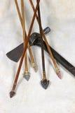 Frecce e Tomahawk fotografia stock