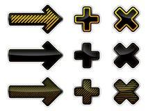 Frecce e traverse Fotografia Stock
