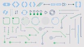 Frecce ed elementi infographic sull'alfa canale archivi video