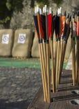 Frecce ed obiettivi Immagine Stock