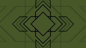 Frecce geometriche pulsanti del fondo astratto archivi video