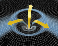 Frecce gialle di turbine Fotografia Stock