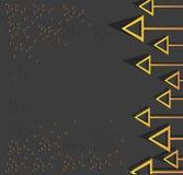 Frecce gialle e fondo nero Fotografia Stock