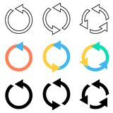 Frecce giranti del cerchio Fotografia Stock