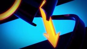 Frecce giranti del fondo astratto 3D Illustrazione di Stock