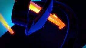 Frecce giranti del fondo astratto 3D Illustrazione Vettoriale
