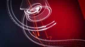 Frecce giranti della nuvola del punto del fondo astratto 3D Immagine Stock