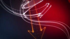 Frecce giranti della nuvola del punto del fondo astratto 3D Immagini Stock Libere da Diritti