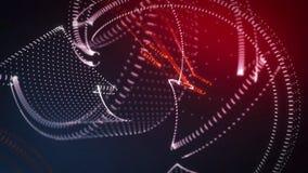Frecce giranti della nuvola del punto del fondo astratto 3D Fotografia Stock Libera da Diritti