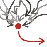 Frecce grige e rosse illustrazione vettoriale