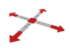 frecce grige rosse 3d Fotografie Stock Libere da Diritti