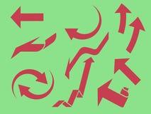 Frecce impostate illustrazione di stock