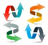Frecce impostate Doppie frecce di vettore illustrazione di stock