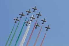 Frecce italien Tricolori Photos libres de droits