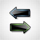 Frecce lucide nere futuristiche Fotografie Stock Libere da Diritti