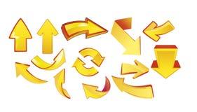 Frecce nel colore giallo Immagine Stock Libera da Diritti
