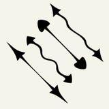 Frecce ondulate Fotografia Stock