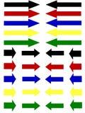 Frecce orizzontali Immagine Stock