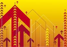 Frecce rosse Fotografia Stock Libera da Diritti