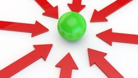 Frecce rosse Fotografie Stock Libere da Diritti