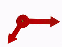 Frecce rosse della vigilanza di carta Immagine Stock