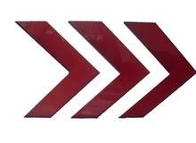 Frecce rosse di emergenza fotografia stock