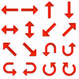 Frecce rosse impostate Fotografia Stock