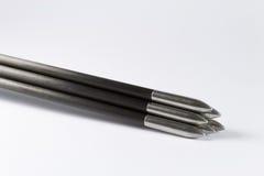 Frecce sottili della concorrenza impilate Immagine Stock Libera da Diritti