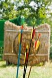 Frecce su un campo da giuoco Fotografia Stock