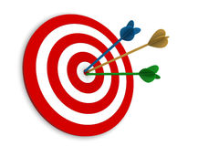 Frecce sull'obiettivo Immagini Stock Libere da Diritti