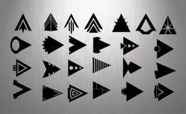Frecce - teste della freccia - completamente editabili Fotografie Stock Libere da Diritti