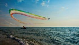 Frecce tricolore. Exibition italian `frecce tricolore` Tuscany Italy Stock Images