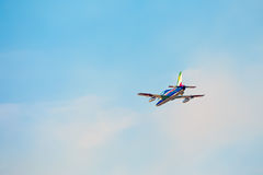 Frecce Tricolori三色箭头在比萨Airshow,意大利全国杂技平底锅 库存照片