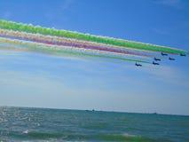Frecce Tricolori Πίζα 2017 στοκ φωτογραφίες με δικαίωμα ελεύθερης χρήσης
