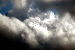 Frecce Tricolori - команда итальянской военновоздушной силы циркаческая Стоковое Фото