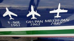 Frecce Tricolori на дисплее стоковая фотография rf