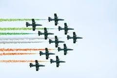 frecce tricolori Στοκ Εικόνες