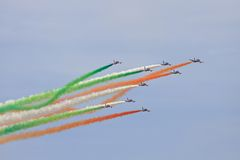 Frecce Tricolori Fotos de Stock Royalty Free