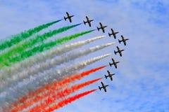 Frecce tricolori Lizenzfreies Stockfoto