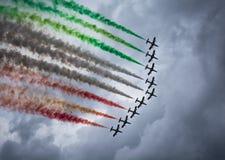 Frecce Tricolori Imagens de Stock