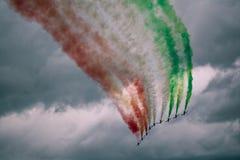 Frecce Tricolori 免版税库存照片