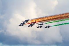 Frecce Tricolori Stockfoto