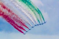 Frecce Tricolori Lizenzfreies Stockbild