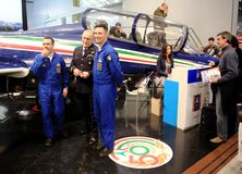 Frecce Tricolori acrobatic flying circus royalty free stock photos
